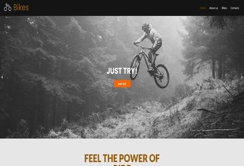 Tema Bike construtor sites Chrome
