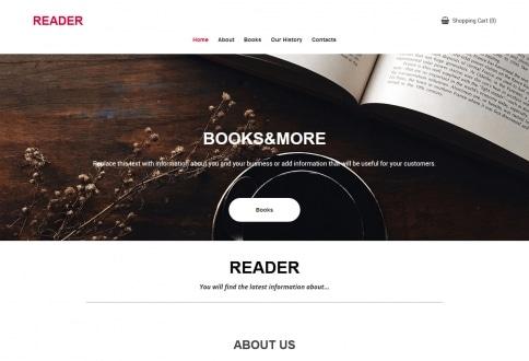Tema Books construtor sites Chrome