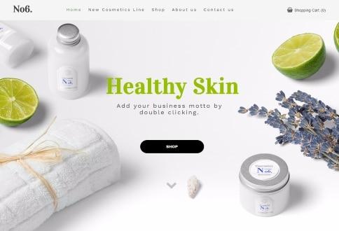 Tema Healthy Skin construtor sites Chrome
