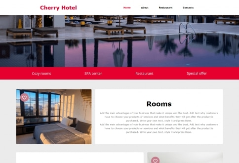 Tema Hotel construtor sites Chrome