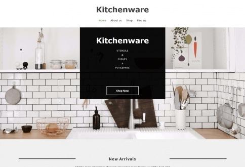 Tema Kitchenware construtor sites Chrome